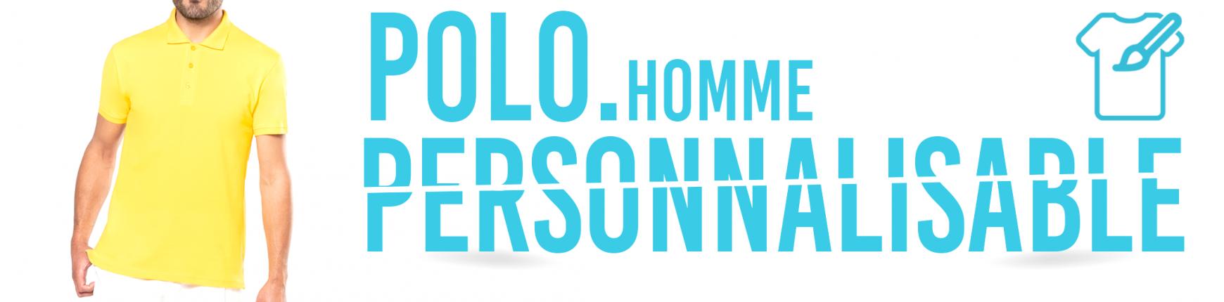 Polo Personnalisé pour Homme - Impression sur Polo
